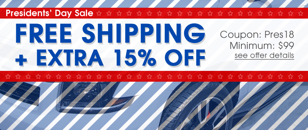Presidents' Day Sale - Free Shipping + Extra 15% Off - Coupon Pres18 - Minimum $99 - see offer details