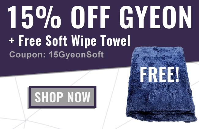 15% Off Gyeon + Free Soft Wipe Towel - Coupon: 15GyeonSoft - Shop Now