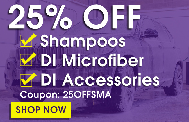 25% Off Shampoos, DI Microfiber & Accessories - Coupon 25OFFSMA - Shop Now