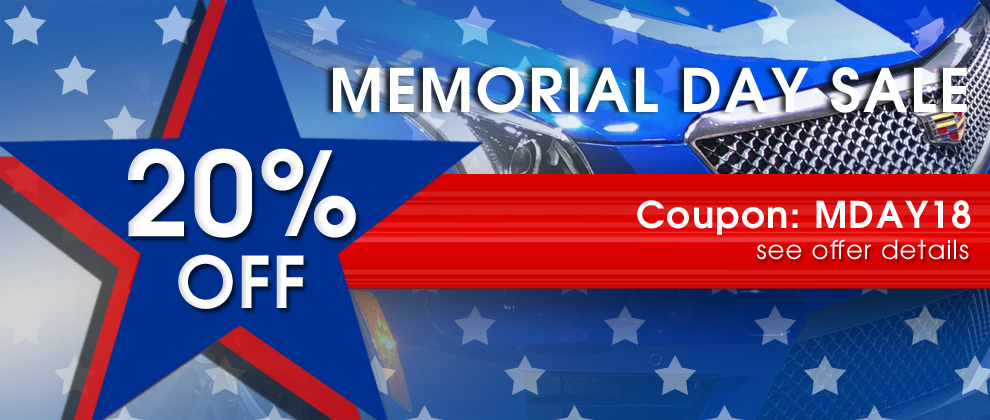 20% Off Memorial Day Sale - Coupon MDAY18 - see offer details