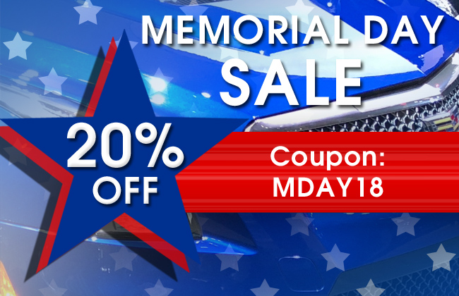 20% Off Memorial Day Sale - Coupon MDAY18