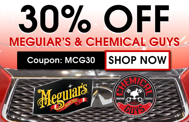 30% Off Meguiar's & Chemical Guys - Coupon MCG30 - Shop Now