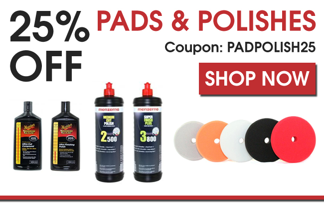 25% Off Pads & Polishes - Coupon PADPOLISH25 - Shop Now