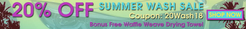 20% Off Summer Was Sale + Bonus Free Waffle Weave Drying Towel - Coupon 20Wash18 - Shop Now
