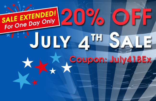 Sale Extended! For One Day Only - 20% July 4th Sale - Coupon July418Ex