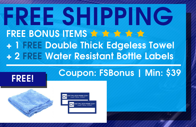 Free Shipping - Free Bonus Items: 1 Free Double Thick Edgeless Towel + 2 Free Water Resistant Bottle Labels - Coupon FSBonus - Min $39