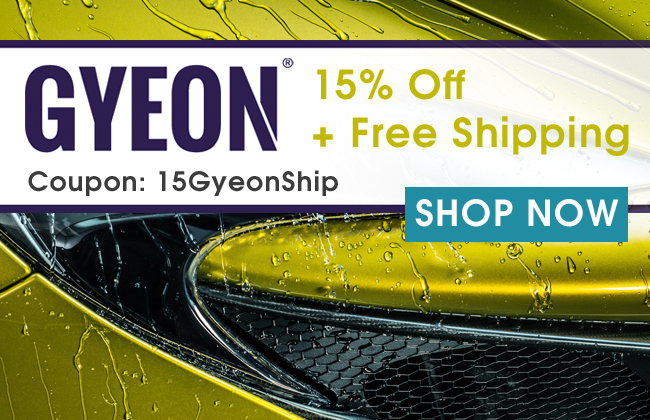 Gyeon: 15% Off + Free Shipping