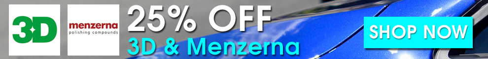 25% Off 3D & Menzerna - Shop Now