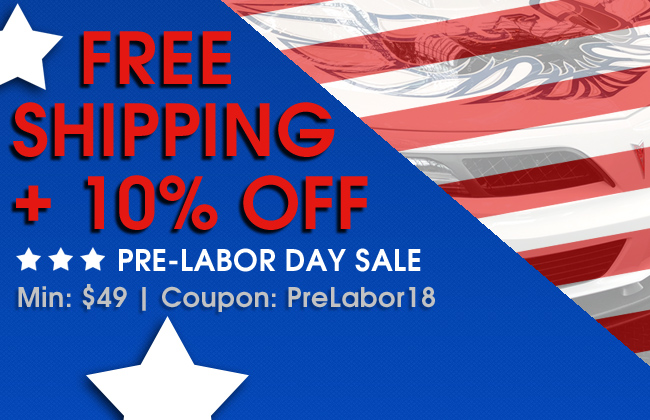 Free Shipping + 10% Off Pre-Labor Day Sale - Min $49 - Coupon PreLabor18