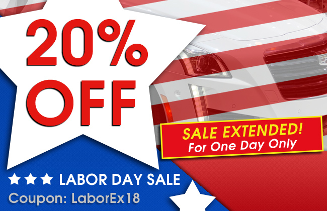 20% Off Labor Day Sale - Sale Extended! For One Day Only - Coupon LaborEx18