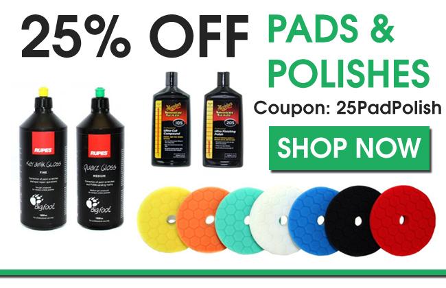 25% Off Pads & Polishes - Coupon 25PadPolish - Shop Now
