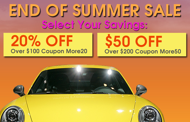 End Of Summer Sale - Select Your Savings - 20% Off Over $100 Coupon More20 - $50 Off Over $200 Coupon More50