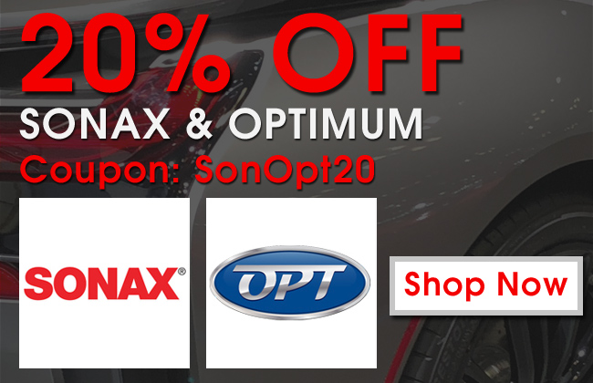 20% Off Sonax and Optimum - Coupon SonOpt20 - Shop Now
