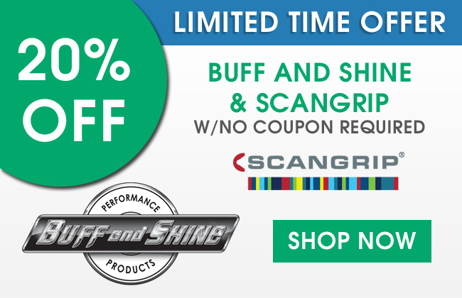 Limited time offer - 20% Off Buff and Shine & Scangrip - With no coupon required - Shop Now