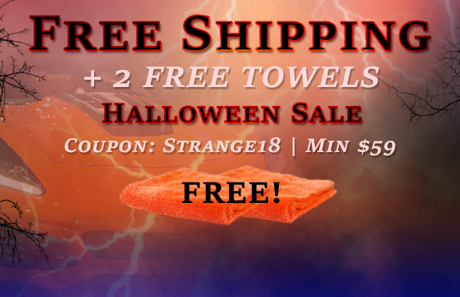 Free Shipping + 2 Free Towels - Halloween Sale - Coupon Strange18 - Min $59