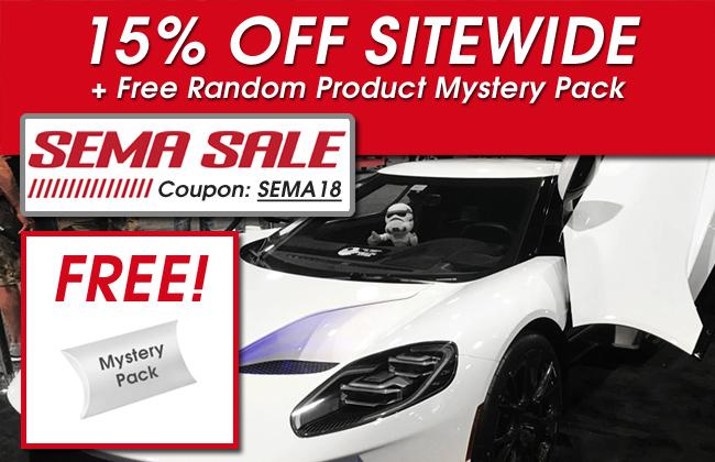15% Off Sitewide + Random Product Free Mystery Pack - SEMA Sale - Coupon SEMA18