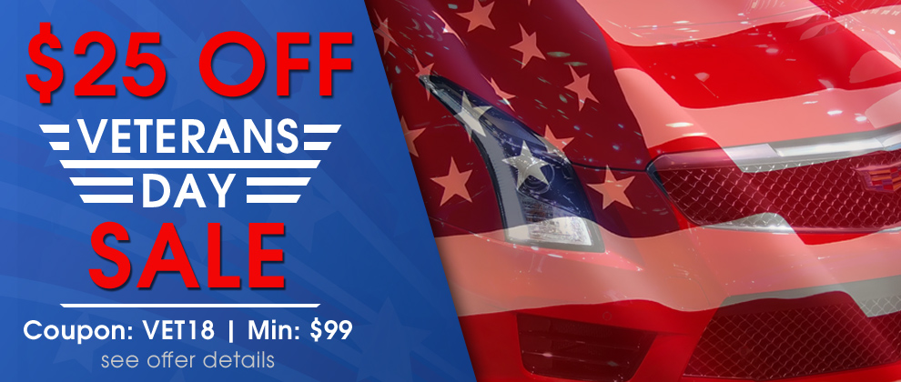 $25 Off Veterans Day Sale - Coupon VET18 - Min $99 - see offer details