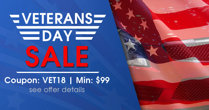 Veterans Day Sale - Coupon VET18 - Min $99 - see offer details