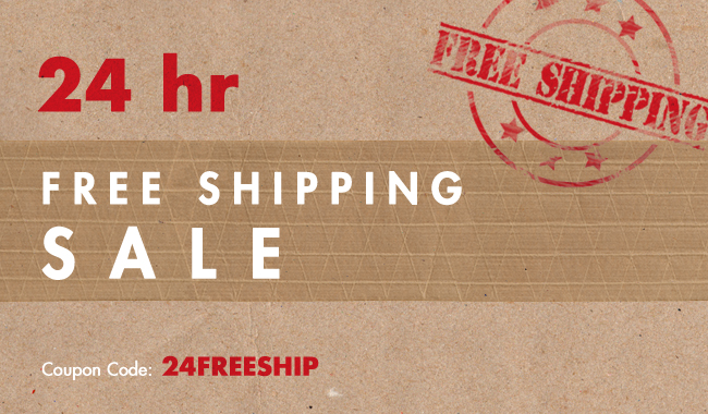 24 Hour Free Shipping Flash Sale
