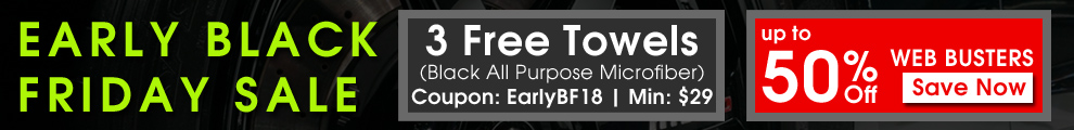 Early Black Friday Sale - 3 Free Towels Coupon EarlyBF18 - Min $29 - Up To 50% Off Web Busters - Save Now