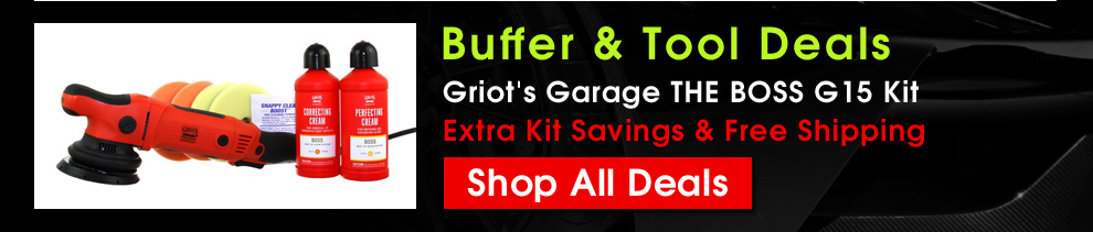 Buffer and Tool Deals - Griot's Garage THE BOSS G15 Kit - Extra Kit Savings & Free Shipping - Shop All Deals