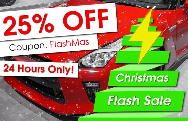 25% Off Christmas Flash Sale