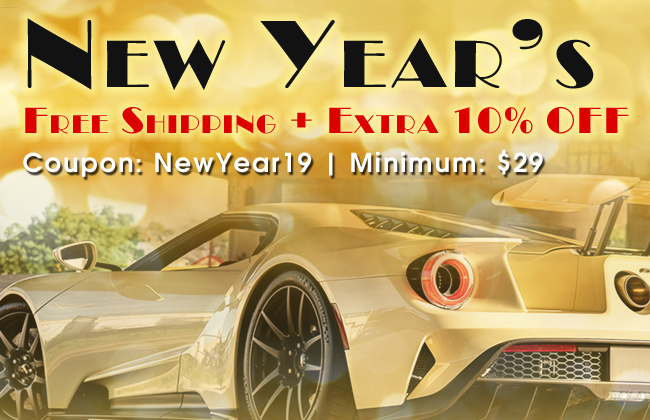 New Year's Free Shipping + Extra 10% Off - Coupon NewYear19 - Minimum $29