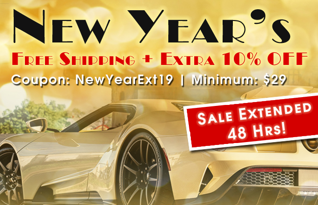 New Year's Free Shipping + Extra 10% Off - Coupon NewYearExt19 - Minimum $29 - Sale Extended 48 Hrs