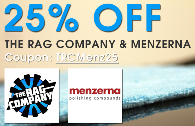 25% Off The Rag Company and Menzerna - Coupon TRCMenz25 - Shop Now