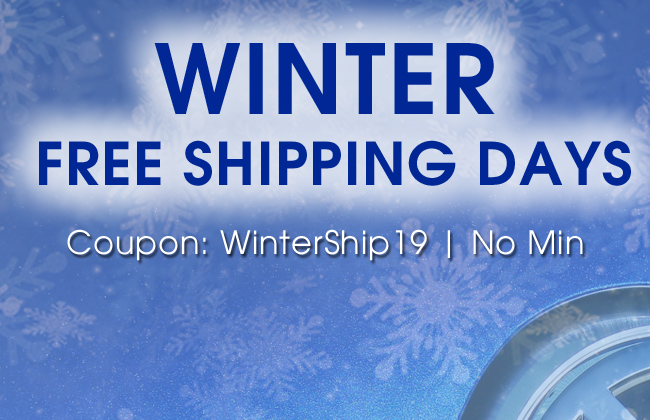 Winter Free Shipping Days - Coupon WinterShip19 - No Min