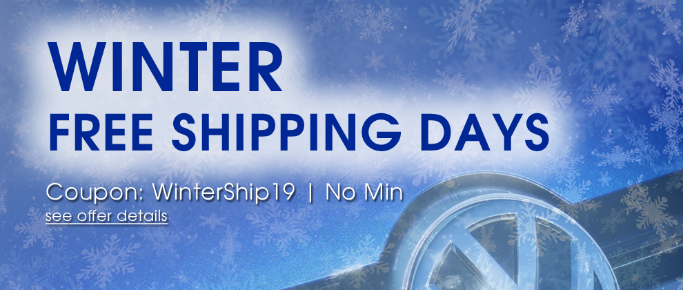 Winter Free Shipping Days - Coupon WinterShip19 - No Min - see offer details