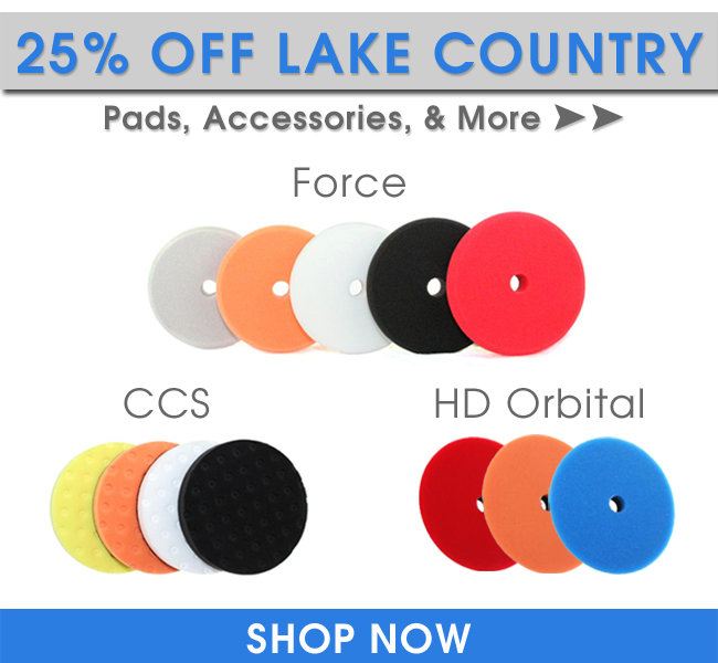 25% Off Lake Country Pads, Accessories, & More!