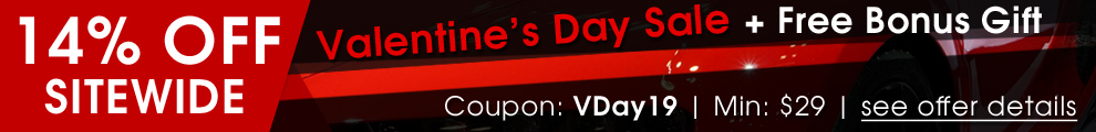 14% Off Sitewide Valentine's Day Sale + Free Bonus Gift - Coupon VDay19 - Min $29 - see offer details