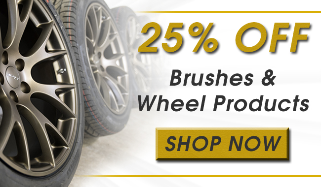 25% Off Brushes & Wheel Products