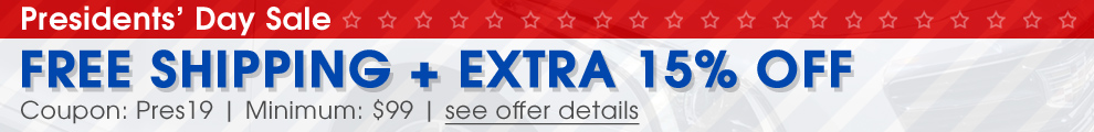 Presidents' Day Sale - Free Shipping + Extra 15% Off - Coupon Pres19 - Min $99 - see offer details