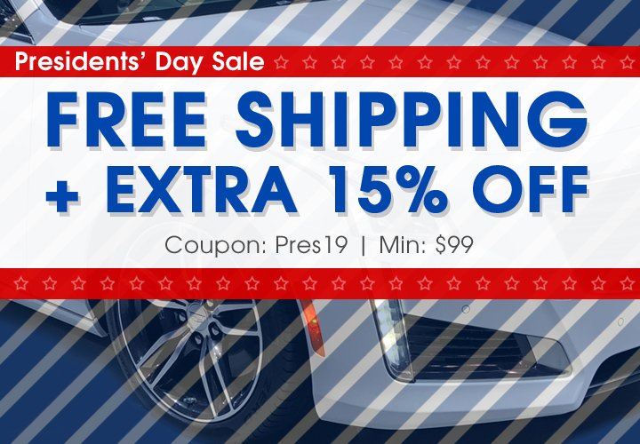 Presidents' Day Sale - Free Shipping + Extra 15% Off - Coupon Pres19 - Min $99
