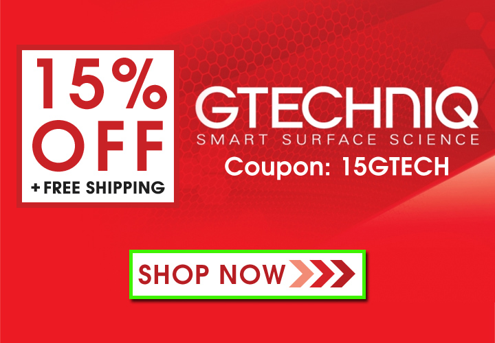 15% Off + Free Shipping On Gtechniq - Coupon: 15GTECH - Shop Now