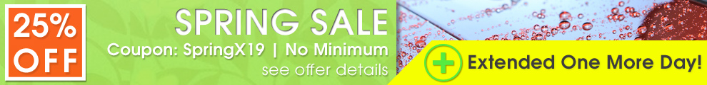 25% Off Spring Sale - Coupon SpringX19 - No Min - Extended One More Day - see offer details