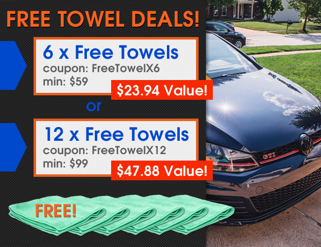 Free Towel Deals - 6 Free Towels Coupon FreeTowelX6 Min $59 a $23.94 Value - 12 Free Towels Coupon FreeTowelX12 Min $99 a $47.88 Value