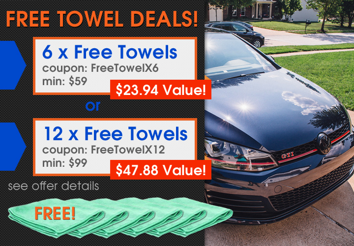 Free Towel Deals - 6 Free Towels Coupon FreeTowelX6 Min $59 a $23.94 Value - 12 Free Towels Coupon FreeTowelX12 Min $99 a $47.88 Value - see offer details