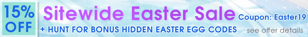 15% Off Sitewide Easter Sale - Coupon Easter19 + Hunt For Bonus Hidden Easter Egg Codes - see offer details