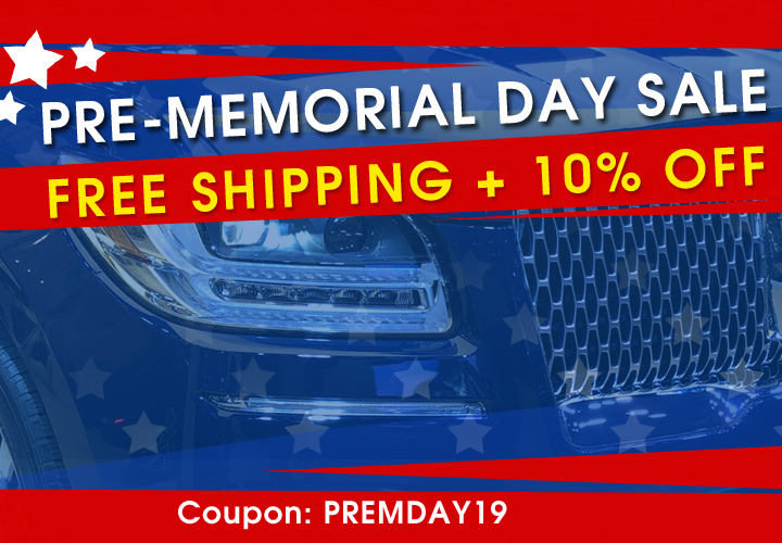 Pre-Memorial Day Sale - Free Shipping + 10% Off - Coupon PREMDAY19