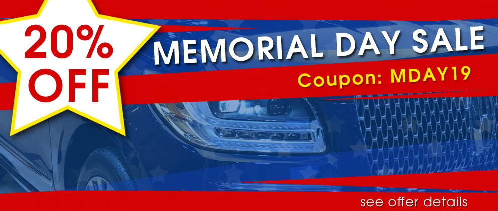20% Off Memorial Day Sale - Coupon MDAY19 - see offer details