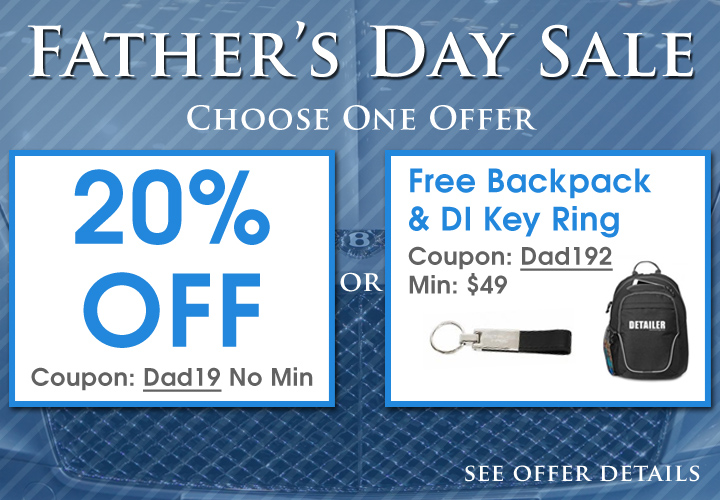 Father's Day Sale - Choose One Offer - 20% Off Coupon Dad19 No Min - Free Backpack and Key Ring Coupon Dad192 Min $49 - see offer details