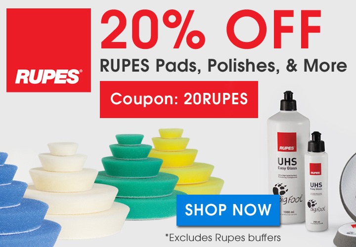 20% Off Rupes Pads, Polishes, and More - Coupon 20Rupes - Shop Now