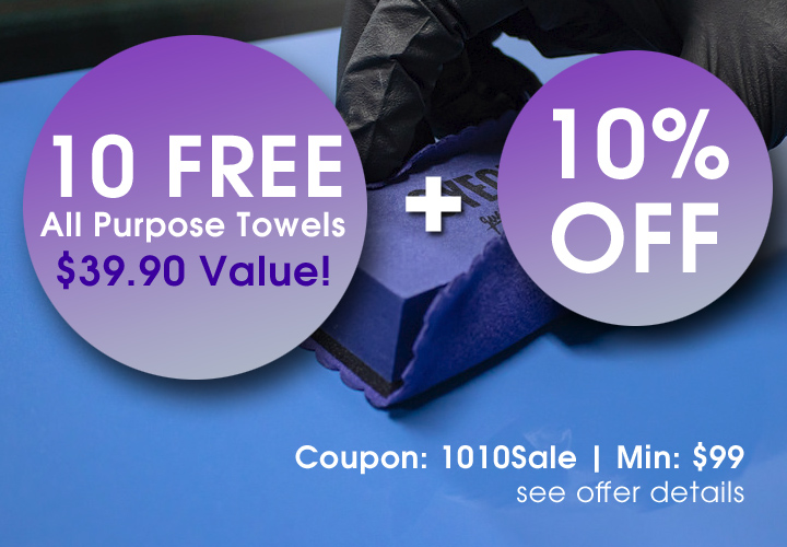 10 Free All Purpose Towels $39.90 Value - Coupon 1010Sale - Min $99 - see offer details