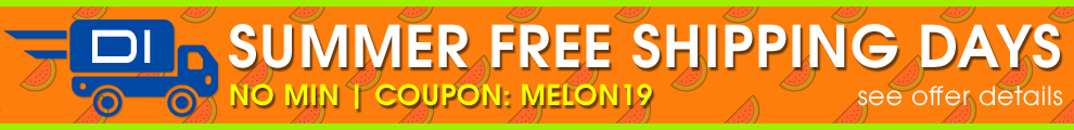 Summer Free Shipping Days - No Minimum - Coupon Melon19 - see offer details