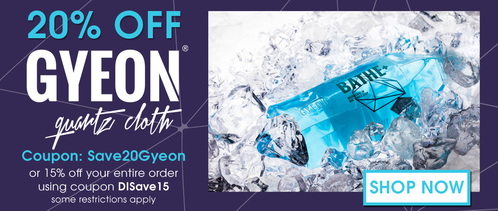 20% Off Gyeon coupon Save20Gyeon or 15% off your entire order using coupon DISave15 - some restrictions apply - Shop Now