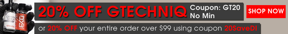 20% Off Gtechniq - Coupon GT20 - No Minimum - Or 20% Off Your Entire Order Over $99 Using Coupon 20SaveDI - Shop Now