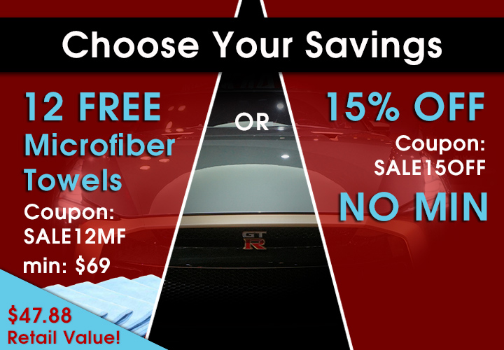 Choose Your Savings - 12 Free Microfiber Towels Coupon Sale12MF Min $69 or 15% Off Coupon Sale15Off No Min - Shop Now